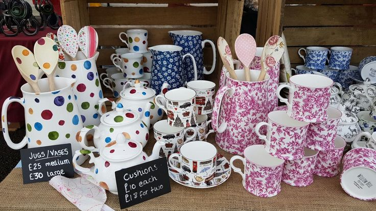 Willow Bell at Wilmslow Artisan Market #StaffordshireFineBoneChina #Teapots #Teaset #WaterJugs #Vases #Mugs #Cupsandsaucers #Cushions #Bags #Teacosies #Cheshire
