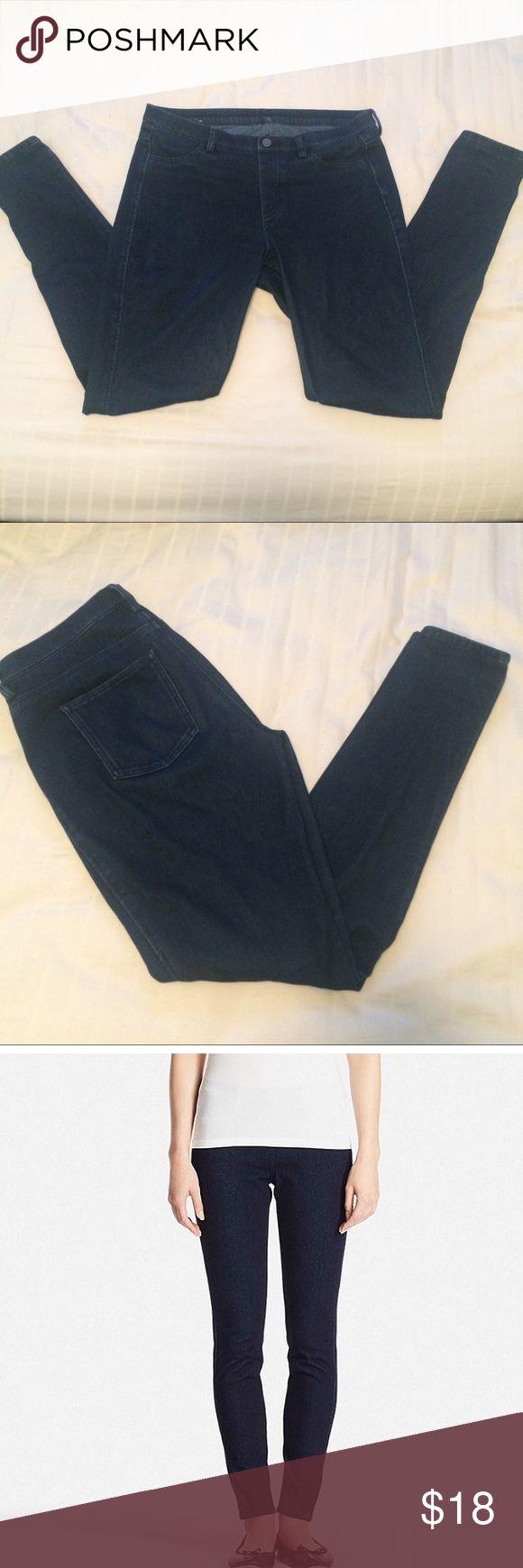 Selling this REDUCED Uniqlo denim legging pants on Poshmark! My username is: izzo055. #shopmycloset #poshmark #fashion #shopping #style #forsale #Uniqlo #Pants