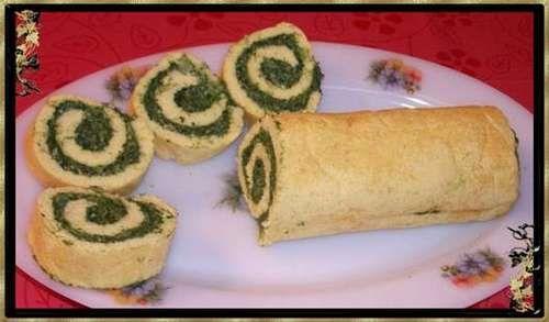Rotolo spinaci e formaggio.Ricette dieta zona