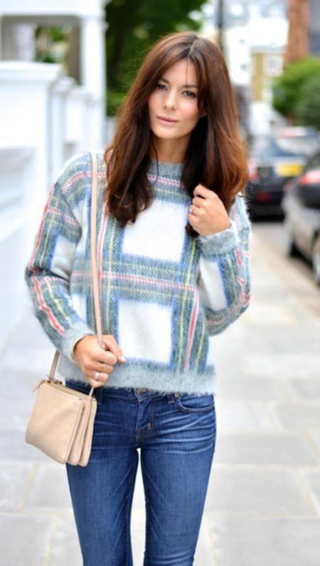 Jersey cuadros Stella Mc Cartney y clon Zara