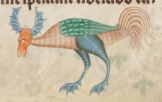 Detail from The Luttrell Psalter, British Library Add MS 42130 (medieval manuscript,1325-1340), f166r