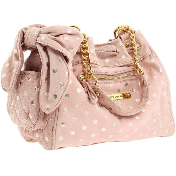 Juicy Couture Luxe Day Dreamer Polka Dot (€280) ❤ liked on Polyvore featuring bags, handbags, shoulder bags, bolsas, purses, accessories, women, suede handbags, quilted chain shoulder bag and handbags purses