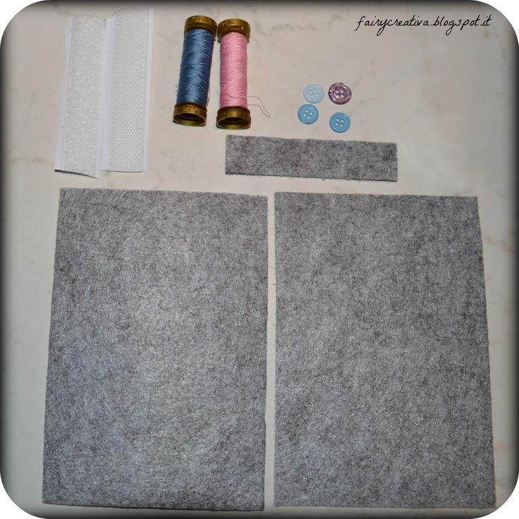 Ciao a tutte!! Oggi vi propongo un tutorial per creare un portacellulare in feltro e pannolenci: Occorrente: - feltro 4mm - feltro 1/...