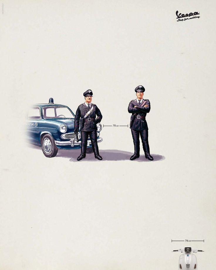 Clever Vintage (?) Vespa ad.