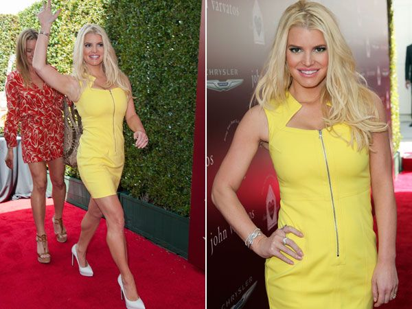 jessica simpson 2014 photos | Jessica-Simpson-Yellow-Mini-Dress