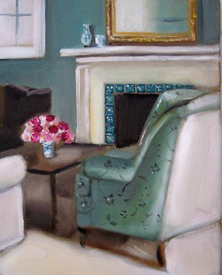 absolutely beautiful things: Interior Paintings By Janet Hill