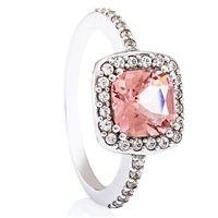 Ole Rosa - Vakker diamantring med Morganitt - Sole Rosa Diamantring