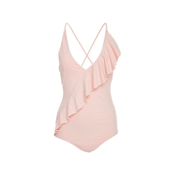 Marysia Swim Palisades Ruffle Maillot (€325) ❤ liked on Polyvore featuring swimwear, one-piece swimsuits, swimsuits, swim, bathing suits, bikini, ruffle bikini, ruffle swimsuit, swimming bikini and ruffle one-piece swimsuits