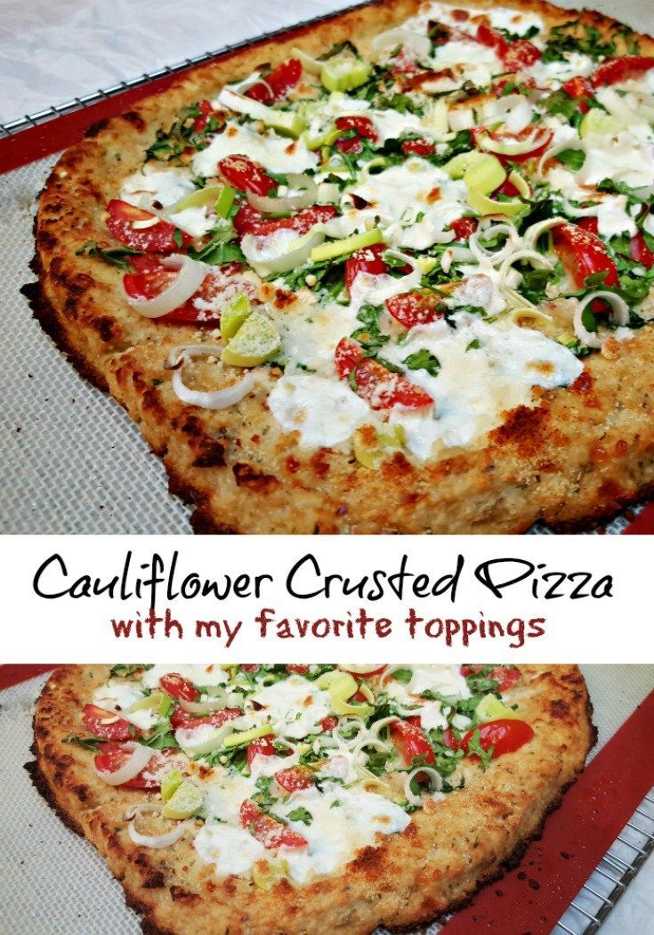 Pizza! Everyone loves pizza, at least around here they do and this Cauliflower Crusted Pizza is one of my new favorite dishes. Yep, cauliflower is the base ingredient to one of the best pizzas I've made in a long time!