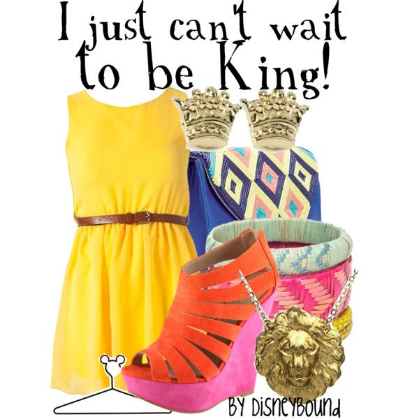 I just can't wait to be king!: Can T Wait, Style, Disneybound Fashion, Disney Inspired, Lion King, Disneybound Outfits, Case, Disney Fashion, Character Outfits