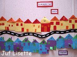 """Huis: In de """"Nummerstraat"""" zijn twee soorten huizen; met even en met oneven huisnummers."""