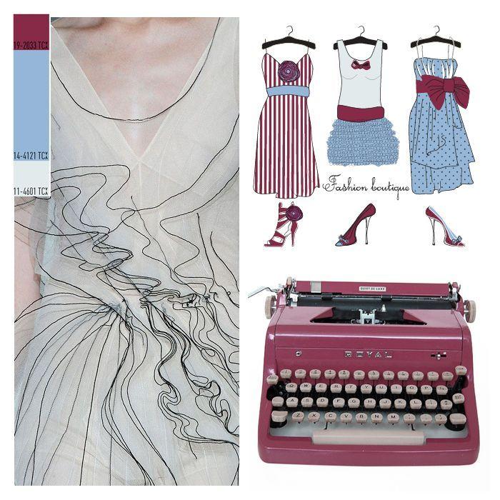 An elegant rise against moden life insipidness; Sky Beauty. #daktilo #colors #colorpalette #love #romantic #textile #dress