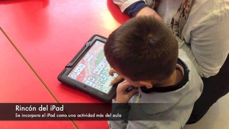 M-Learning: aprendiendo en todas partes. Un ejemplo de como los alumnos de infantil incorporan el iPad como una actividad más en el aula. Los iPad van pasando por los distintos rincones ubicados en las clases de primero, segundo y tercero.