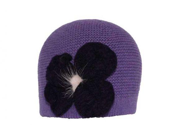 Leonmontane Bonnet Paros court violet #bonnet #ski #rentree @leonmontane