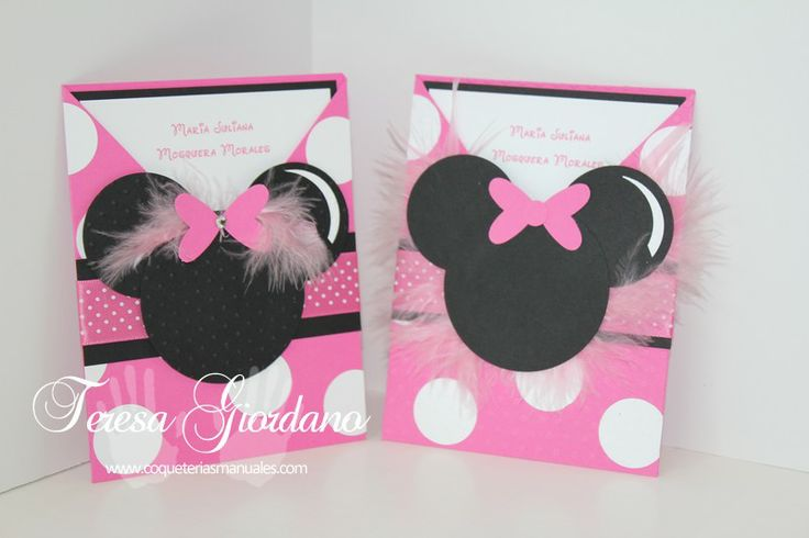 COQUETERIAS MANUALES FIESTA DE MINNIE MOUSE Convites da Net Pinterest Mice, Fiestas and