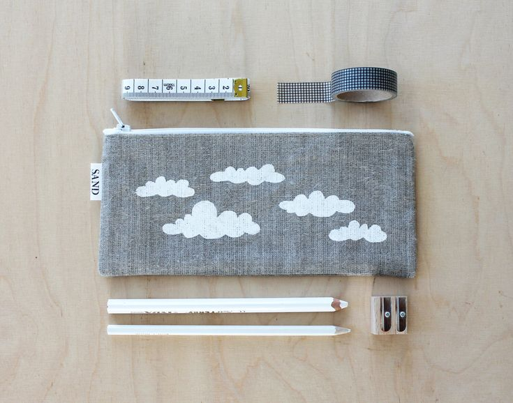 A personal favorite from my Etsy shop https://www.etsy.com/listing/474325003/sale-cloud-print-linen-pencilcase