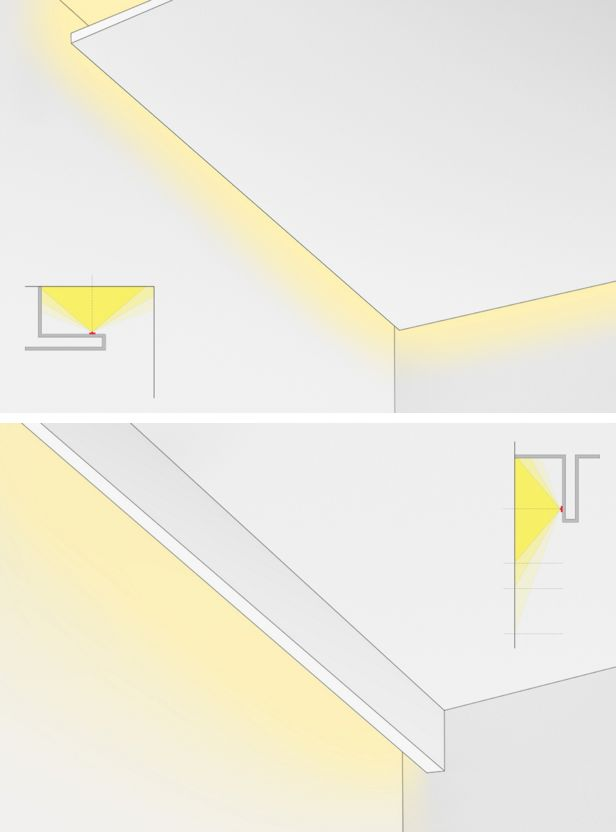 Варианты светодиодного освещения потолка
