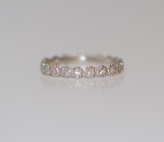 1mm Diamond Wedding band matches ANY engagement by EidelPrecious