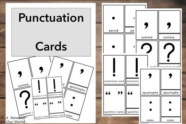 Our youngest boy is currently learning about Punctuation and is having a hard time trying to remember the names of each of the punctuation marks, so I made these punctuation cards for him. He goes over these cards each day and you can already see the improvement. The punctuation marks included in this pack are: …