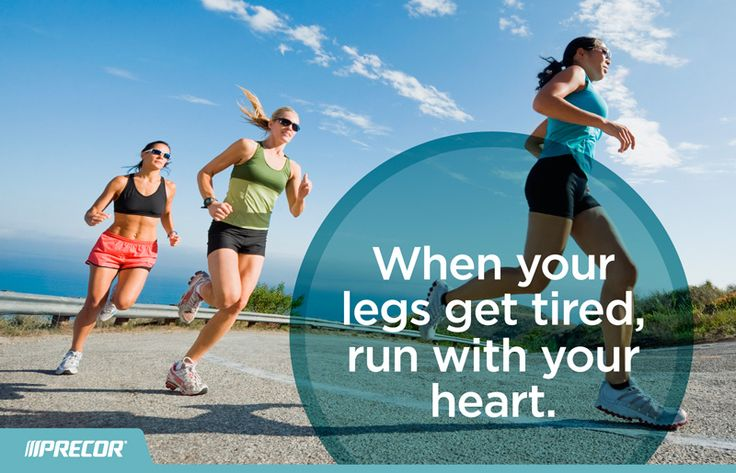 """""""When your legs get tired, run with your heart."""" #fitness #motivation #quotes"""
