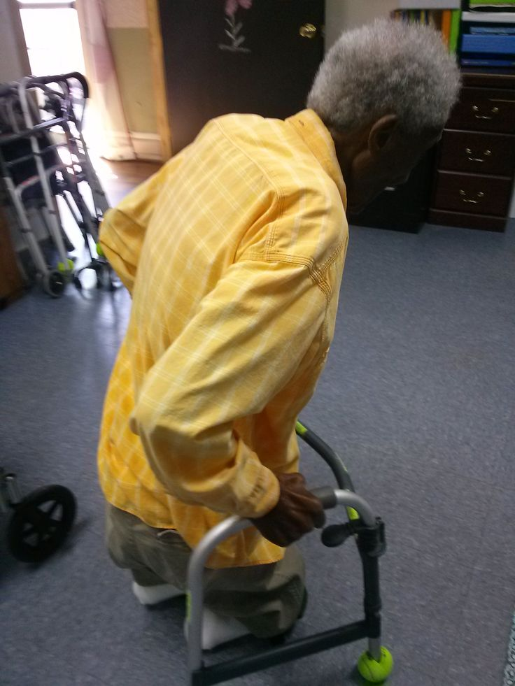 Mr. W is 101 years old.  He has bilateral below the knee amputation and ambulates on his knees!  The therapy team in AL cut down a walker and provided him with knee pads to allow him more independence in the facility.  He is truly an incredible inspiration to us all!