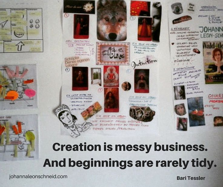Creation is messy business. And beginnings are rarely tidy.