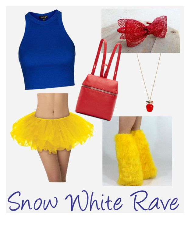 """Snow White Rave Outfit"" by modernpelage on Polyvore featuring Topshop, Betsey Johnson, Kara, women's clothing, women's fashion, women, female, woman, misses and juniors"