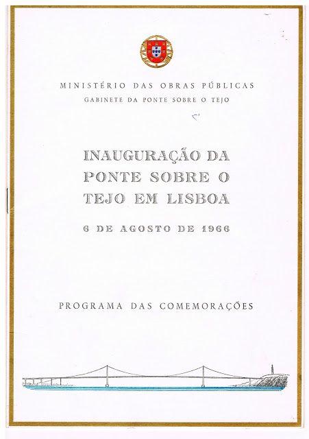 As Receitas da Avó Helena e da Avó Eduarda: Convite para a Inauguração da Ponte Sobre o Tejo e...