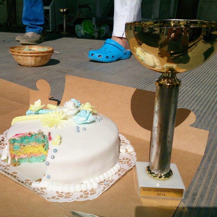 Min vinnartårta på Rissnadagen sommaren 2014. Årets Jubileumtårta