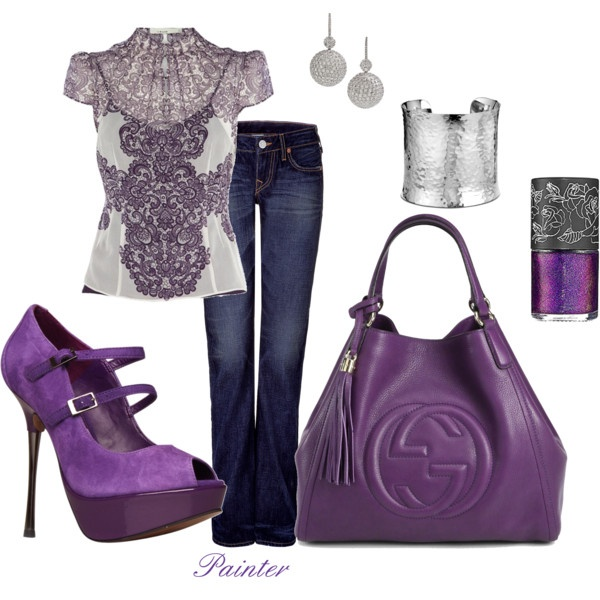 ~~Night on the Town~~, created by mels777 on Polyvore - Love the blouse!
