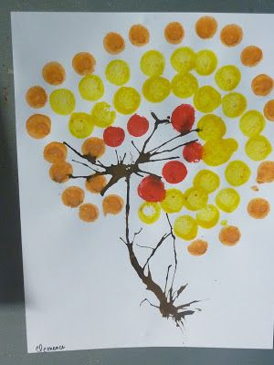 arbre d'automne selon Angela Vanderbogaard - classe des moyens