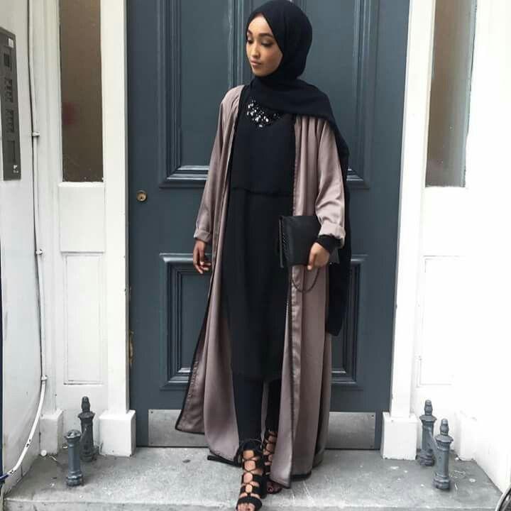 Hanna Mk  #abayastyle #modest #noir #taupe