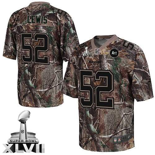 ... Mens Nike Baltimore Ravens 52 Ray Lewis Elite Camo Realtree Super Bowl  XLVII NFL Jersey ... 3dc6e5357