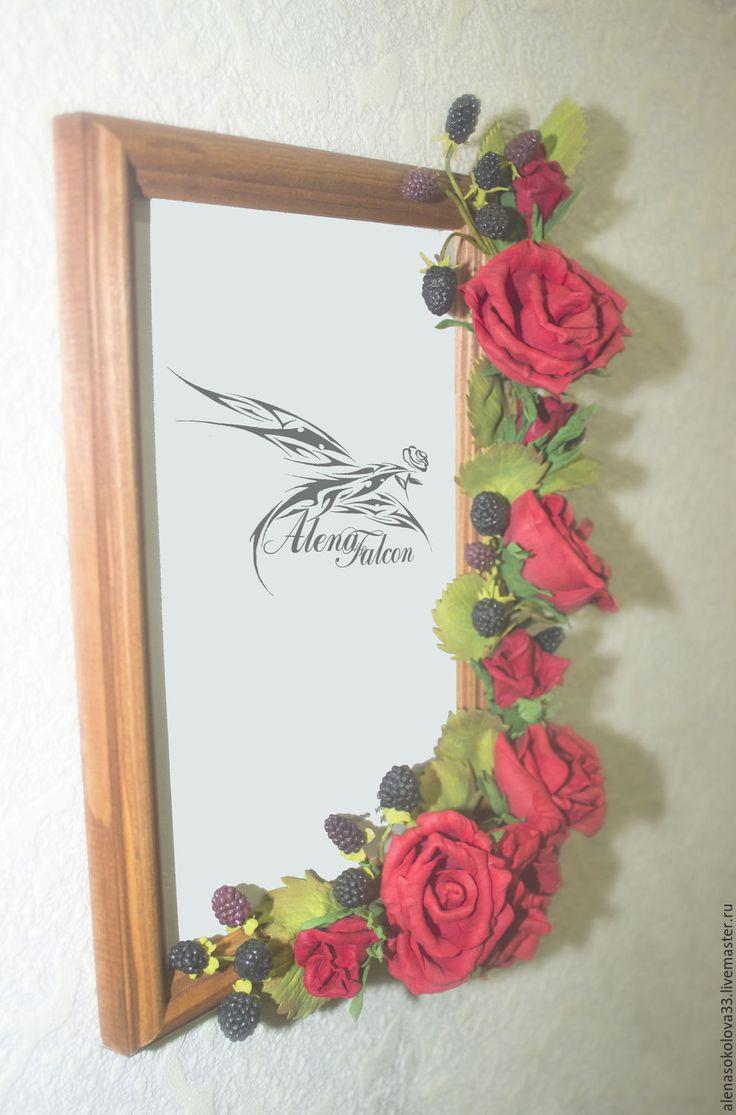 """Купить Рамка для фото """"Ягодные розы. 2"""" - ярко-красный, рамка, рамка для фото"""