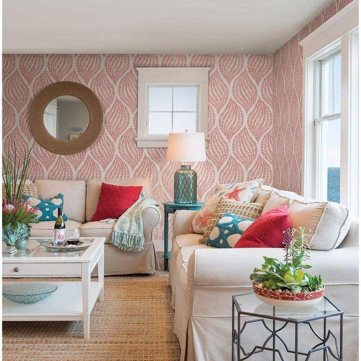A-Street Arboretum Pink Fern Wallpaper