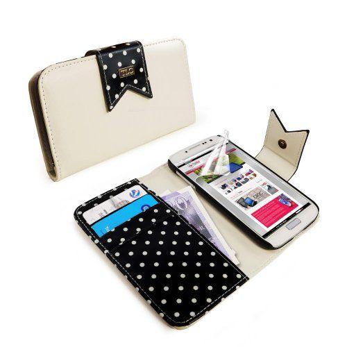 Funda cartera para Samsung Galaxy S4 (con protector de pantalla) - Lunares negro B00H2S5S96 - http://www.comprartabletas.es/funda-cartera-para-samsung-galaxy-s4-con-protector-de-pantalla-lunares-negro-b00h2s5s96.html
