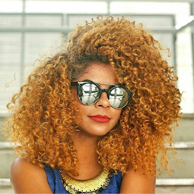 Honey Blonde Color Curls Natural Hair And Curly With Colorful Textures Pinterest Styles