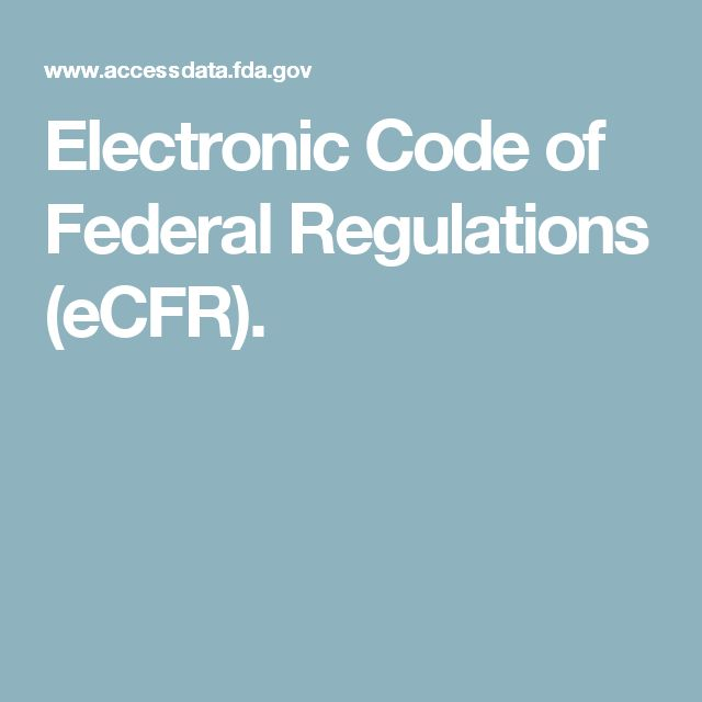 Image Result For Electronic Code Of Federal Regulationsa