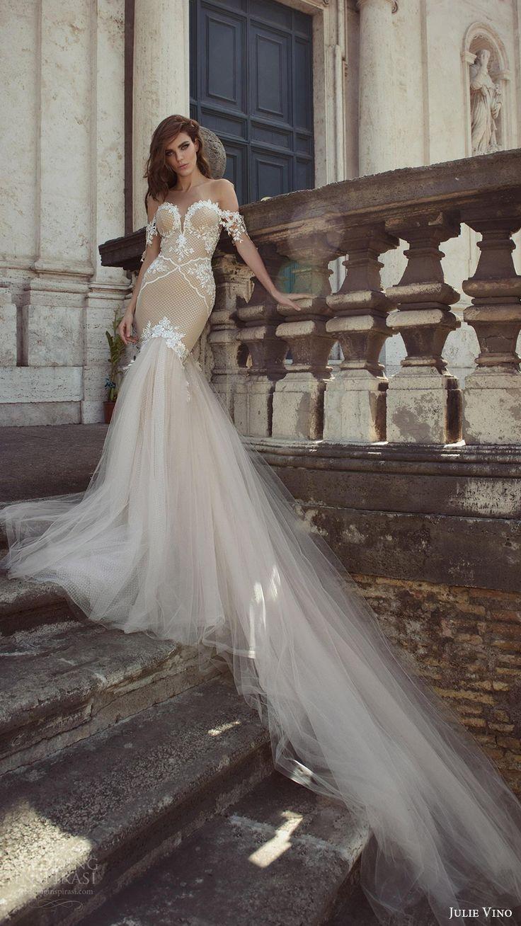 Julie Vino Bridal Spring 2017 Wedding Dresses Roma Bridal Collection #bridal #wedding #weddingdress #weddinggown #bridalgown #dreamgown #dreamdress #engaged #inspiration #bridalinspiration #weddinginspiration #weddingdresses #blush