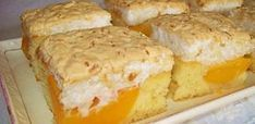 Recept: Ellenállhatatlan sütemény, barackos szelet kókuszhabbal!
