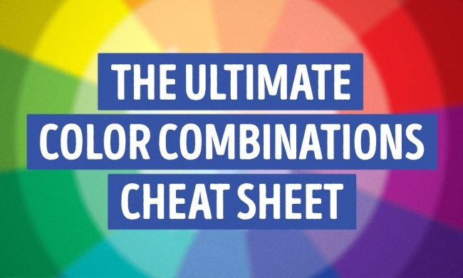 "The ultimate color combinations cheat sheet  Goes beyond basic complimentary colors. Interesting to me since I seem to instinctively do this without knowing the ""why""."