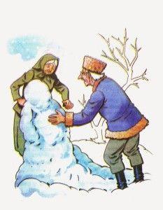 La Niña de Nieve   Cuentos Populares Cortos