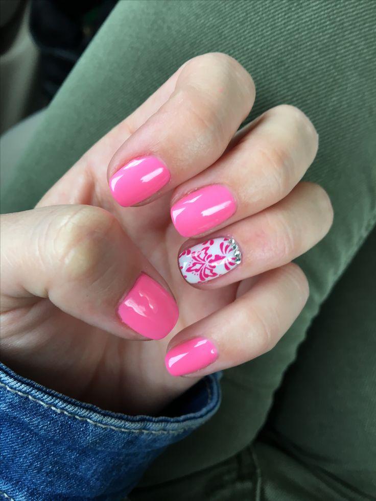 Pink nails, art, love nails! 💓