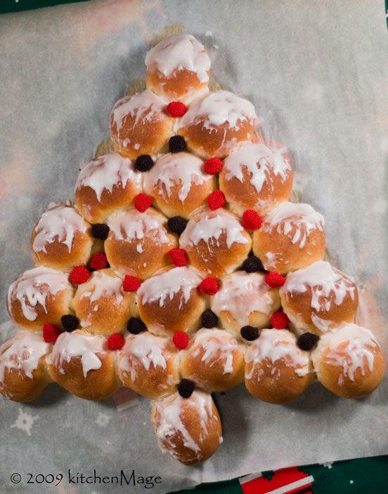 Christmas Tree Bread | food. | Pinterest
