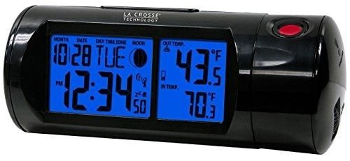 Projection Alarm Clock With Backlight With In/Out Temp Time Snooze Calendar New #LaCrosseTechnology