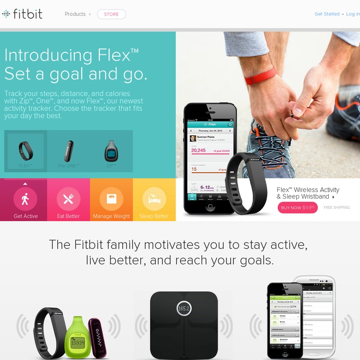 Website http://www.fitbit.com/home snapped on Snapito!