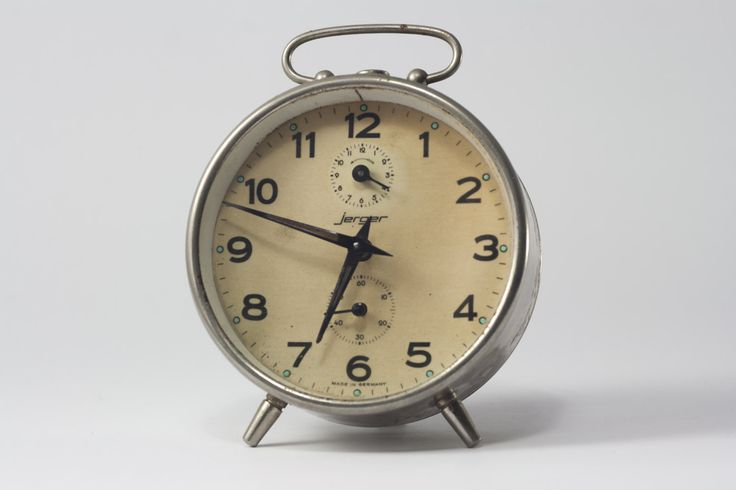 Alarm Clock, Alarm clock Vintage 70s, Retro Desk table watch, office décor, retro décor, Vintage décor, German alarm clock Jerger, Clock by yesterdaysgaze on Etsy