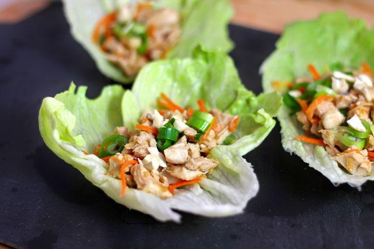 Mu Shu (Moo Shu) Chicken lettuce wrap #recipe. A great dish to make in ...