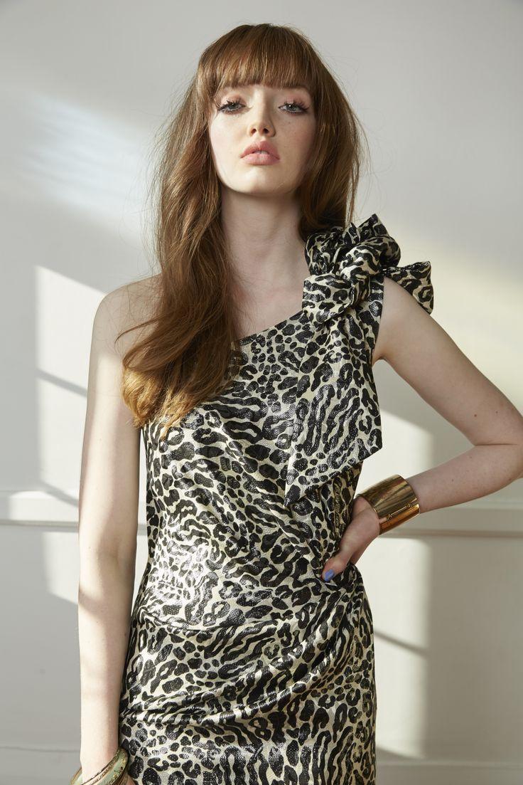 Carlson Exhibition Dress - Leopard Lurex