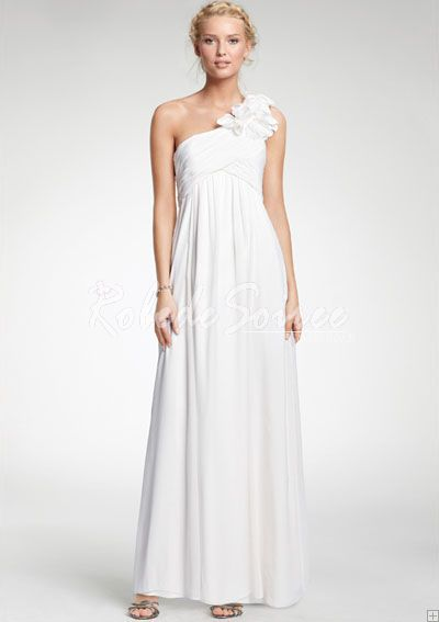 Robe de Mariée Pas Cher-Un A-Line/Princess-sol-épaule longueur des robes de mariée Charmeuse